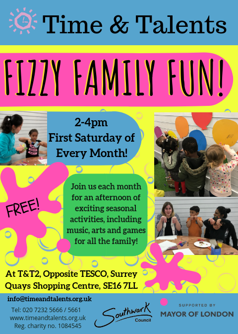 Fizzy Family Fun is an popping explosion of good times and activities for all the family to get the month off to a great start!