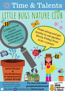 Little Bugs Nature Club - earlier finish time for winter!