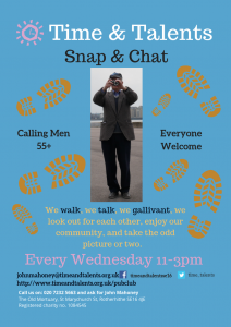 Snap & Chat is a group for older men to walk, talk and take photographs around London