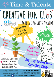 Creative Fun Club. Tuesdays from 25 Feb-31 Mar, 4pm-5pm
