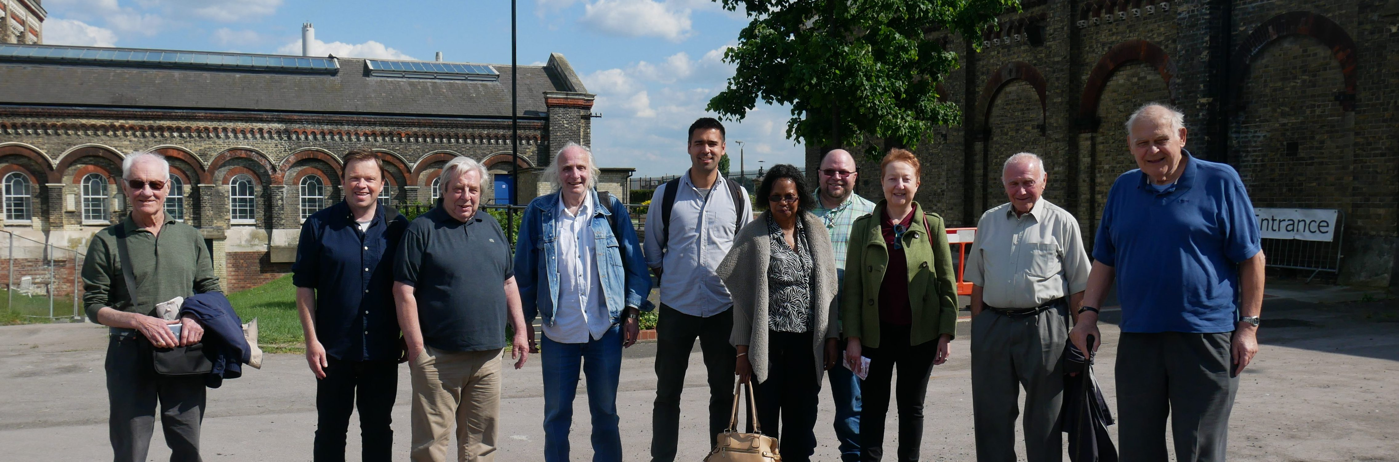 Our walking group explores the city, such as this trip to Crossness Pump Station