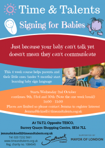 Second run of our baby signing course - this one is full so keep an eye out for the next run!