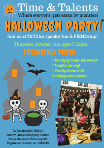 Poster for Halloween party at T&T2