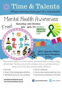 Come to our Mental Health Awareness event on Saturday 12th October
