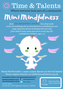 A four week class to introduce mindfulness and meditation to little ones