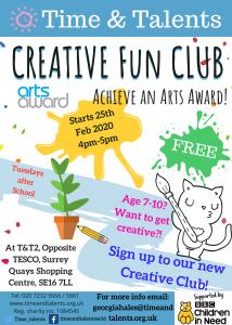 Creative Fun Club. Tuesdays from 25 Feb-31 Mar, 4pm-5pm